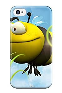 Brand New 4/4s Defender Case For Iphone (big Bee Yellow Grass Blue Sky Green Brown Animal Other)