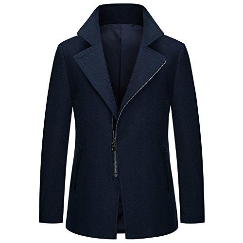 TEERFU Herren Trenchcoat Mantel XXX-Large Gr. XXX-Large, dunkelblau