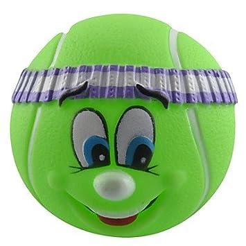 Amazon.com: Tinte Squeaky verde cara sonriente pelota de ...