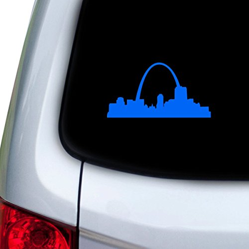 StickAny Car and Auto Decal Series St. Louis Skyline Arch Sticker for Windows, Doors, Hoods (Blue)