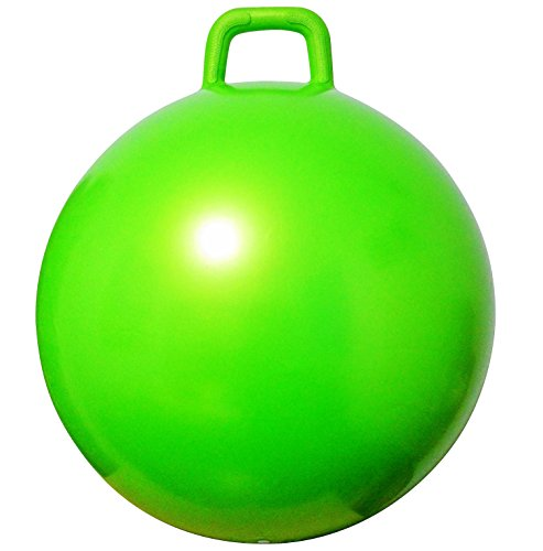 AppleRound Space Hopper Ball with Air Pump: 20in/50cm Diameter for Ages 7-9, Hop Ball, Kangaroo Bouncer, Hoppity Hop, Jumping Ball, Sit and Bounce