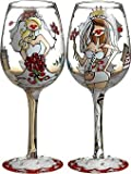 Bottom's Up 15-Ounce Bride to Be Handpainted Wine Glass