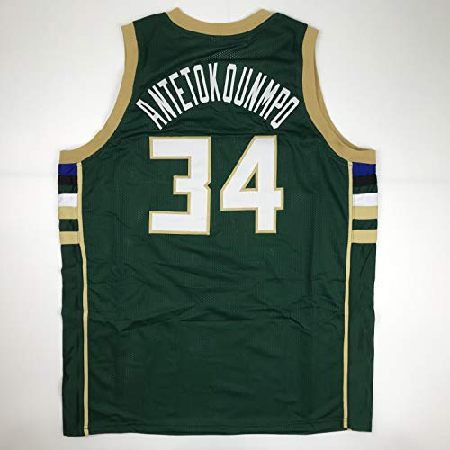 (Unsigned Giannis Antetokounmpo Milwaukee Green Custom Stitched Basketball Jersey Size Men's XL New No Brands/Logos )