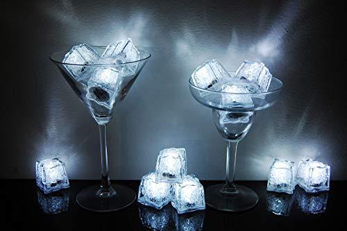 Litecubes Brand 3 Mode White Light up LED Ice Cubes (12) ()