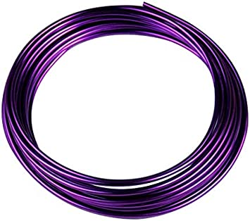 Viola 5 Metri//Rotolo 1.0mm Filo di Alluminio colorato Rotondo di ossidazione Rotondo Filo Metallico Artigianale Accessori Fai-da-Te per Artigianato HEEPDD Filo di Alluminio di ossidazione