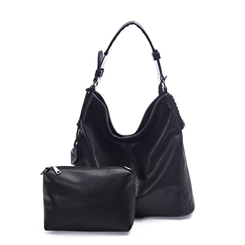 Classic Everyday Hobo (DDDH Women Handbags Hobo Shoulder Bags Tote Leather Handbags Fashion Large Capacity Bags(Black new))