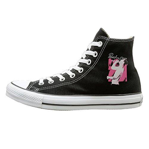 JayKi Panic! At The Disco Brendon Unisex Canvas Sneaker Sport Shoes 35 Black