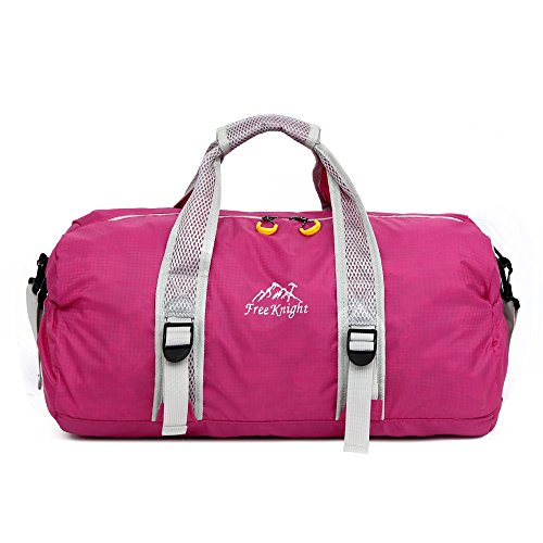 Businda Travel Small Duffle Bag, Waterproof Nylon Sport Handbags Ultralight Folding for Hiking Travel Sport Training Handbag for Men Women by Businda