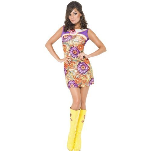 Fever 1960s Peace Love Costume Large