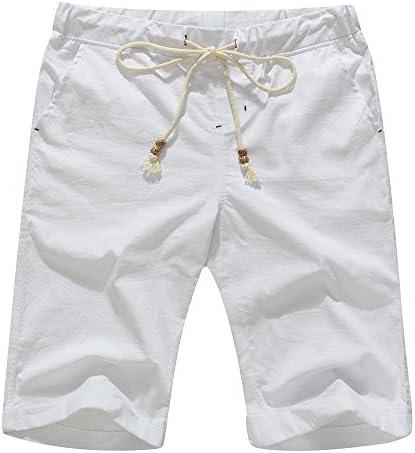 janmid pantalones cortos de lino Casual Clásico