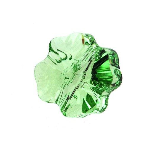 SWAROVSKI ELEMENTS Crystal Beads, #5752 Clover, 8mm, 4 Pieces, Peridot