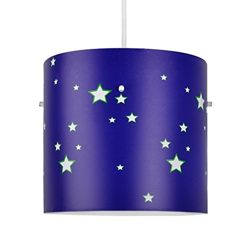 Colourful Space And Stars Childrenu0027s Cylinder Ceiling Pendant Light Shade:  Amazon.co.uk: Lighting