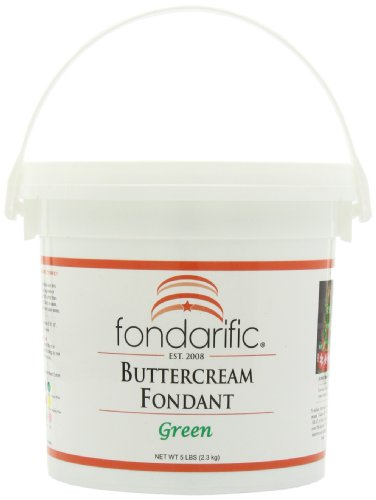 Fondarific Buttercream Green Fondant, 5-Pounds by Fondarific