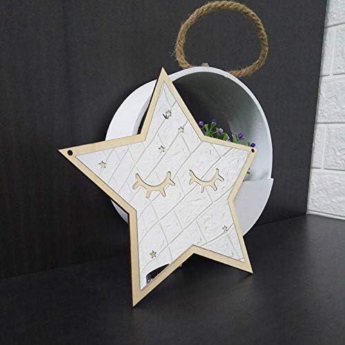 Domilay Bambini Specchio Decorativo Bagno Bagno Baby Room Specchio Acrilico nel Legno Cornice Creativa Home Art Wall Decorations Star