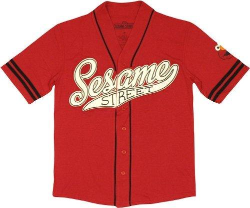 Sesame Street Elmo Baseball Jersey X-Large - Mad Baseball Jersey