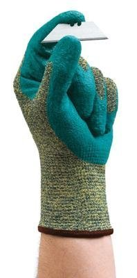 Ansell Size 9 HyFlex?Medium Duty Cut And Abrasion Resistant Blue Foam Nitrile Palm Coated Work Gloves With Intercept Technology?Yarn DuPont Kevlar?Liner And Knit Wrist by Ansell Edmont