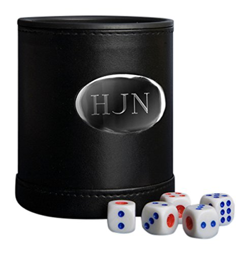 JDS Personalized Gifts GC751 Personalized Leather Dice Cup