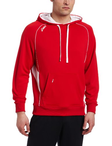 ASICS Men's Team Hoody,Red/White,Medium ()