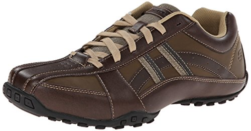 (Skechers USA Men's Citywalk Malton Oxford Sneaker,Brown,9.5 M US)
