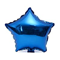 Lovelysunshiny Decoración metálica de la Fiesta de cumpleaños del Helio del Globo de la Forma de la Estrella de la Hoja de 18 Pulgadas