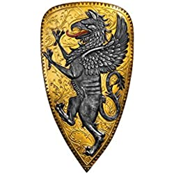 Design Toscano Villani Florence Gothic Griffin Shield Wall Sculpture