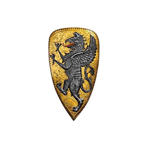 Shields Wall Sculpture (Design Toscano Villani Florence Gothic Griffin Shield Wall Sculpture)