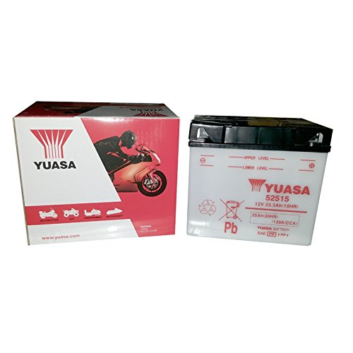 YUASA 52515 Y-batterij, open zonder zuur, 12 volt, 130 A, 25 Ah (20 uur)