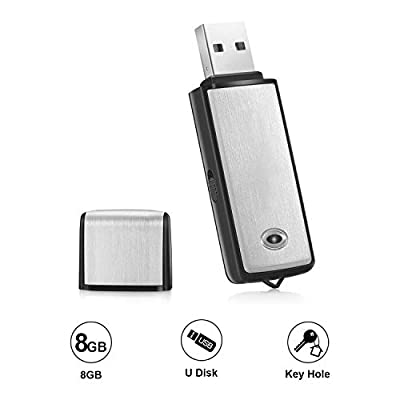 Voice Recorder by Lgsixe USB Flash Drive 128Kbps Digital Voice Recording 8gb No Flashing Light When Recording,Compatible with Windows Mini Record by Lgsixe