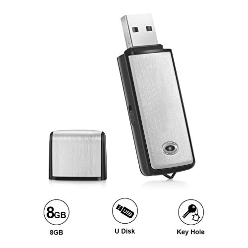 (Voice Recorder by Lgsixe USB Flash Drive 128Kbps Digital Voice Recording 8gb No Flashing Light When Recording,Compatible with Windows Mini Record)