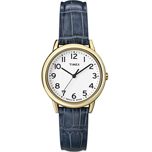 Timex Women s Easy Reader Leather Strap 30mm Watch