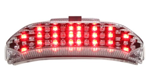 Honda Cbr600rr Tail (2013-2018 Honda CBR600RR Integrated Sequential LED Tail Lights Clear Lens)