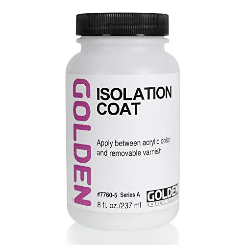 - Golden Artist Colors Isolation Coat, to Unify and Protect The Painting Surface, 8 Ounce jar (7760-5)