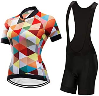 女性サイクリング半袖セット通気性サマーバイクウェアスーツ通気性と速乾性の半袖