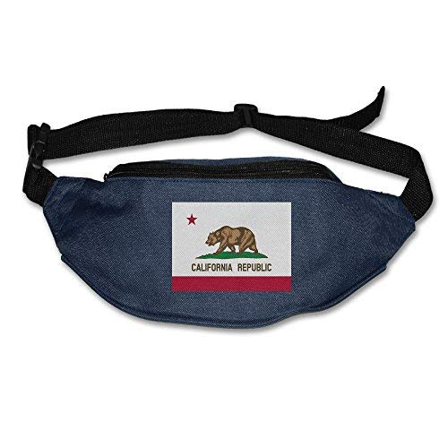 Spanwell California Flag Unisex Waist Packs Adjustable Outdoor Running ort Hiking Fanny Packs Wallet
