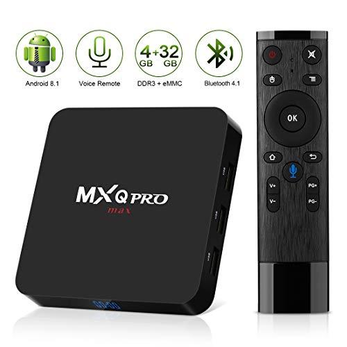 Android 8 1 TV Box,2018 Newest Leelbox MXQ PRO max 4GB RAM 32GB ROM  Quad-Core Cortex-A53 RK3328 64 Bits Built-in WiFi BT 4 1 Support 4K 3D  Ultra HD