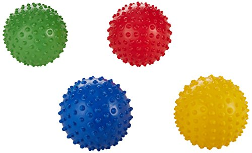 "Edushape 700177 Textured Sensory Balls, 7"" Size, 7"" Height, 7.25"" Width, 7.25"" Length (Pack of 4)"