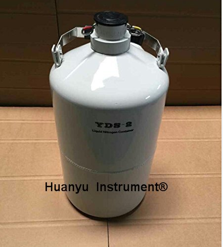 2L Cryogenic Container Liquid Nitrogen LN2 Tank with Straps and Carry Bag by Huanyu (Image #1)