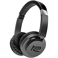 Klip Xtreme AkoustikFX Stereo Headphones with Microphone-On-ear Flat Foldable Rotating Earcups-Noise Isolating-In-Line Controls-Large 40mm Speaker Drivers-Great Sound & Bass-3.5mm Connector-Black