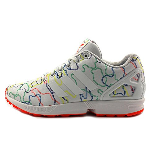 hot sale Adidas Zx Flux Men Round Toe Synthetic White Sneakers
