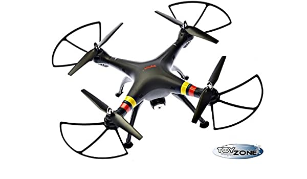 RC cuadricóptero Syma x8 W RC dron Negro Incluye 2 MB cámara ...