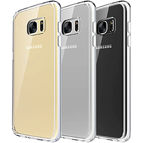 Galaxy S7 Edge Case - Quirkio - TPU Crystal Clear Hard Back Skin Transparent Slim Rubber Dust Proof Drop Protection Sales