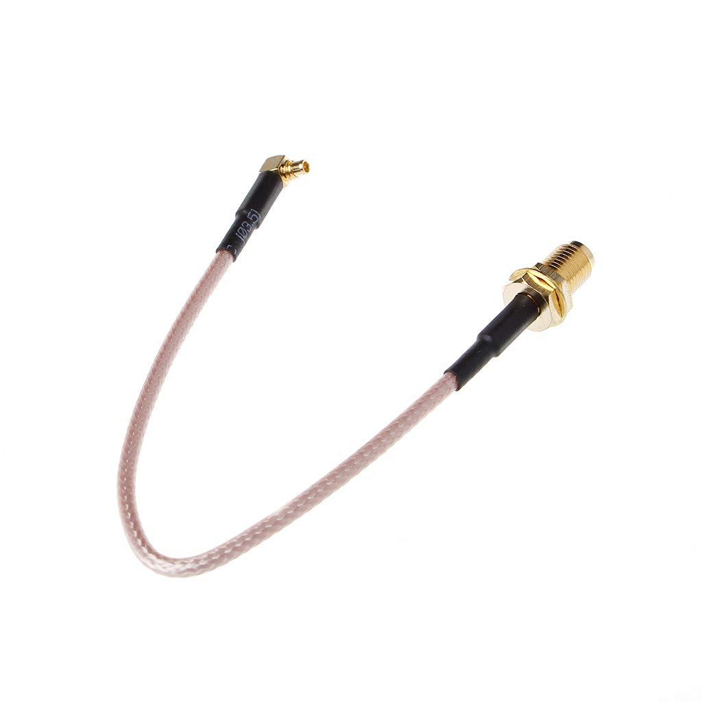 Dabixx SMA-Buchse auf MMCX-Stecker Pigtail-Kabel RG316 15cm 6 rechtwinklig