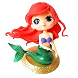 Amycute Big Eyes Mermaid Doll Cake Toppers, Super Cute Cupcake Topper for Birthday Cake Decoration Wedding Baby Shower Party Supplies