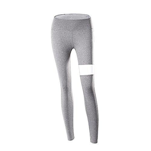 MAOYYMYJK Yoga-Hose Für Damen Yoga Keucht Weibliches Festes Neun Punkte-Ineinander Greifen Reizvolles Hüftlaufendes Yoga Der Hohen Taille, Das Soem Kleidet