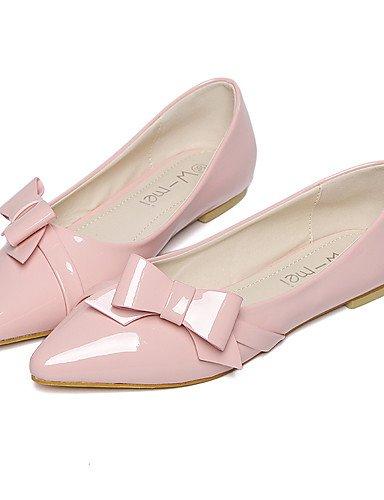 PDX/ Damenschuhe-Ballerinas-Lässig-Lackleder-Flacher Absatz-Spitzschuh-Rosa / Weiß / Grau gray-us6 / eu36 / uk4 / cn36