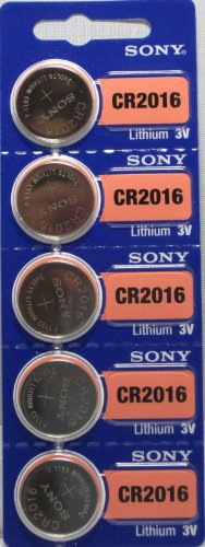 (Sony Lithium 3V Batteries Size CR2016 (Pack of 5))
