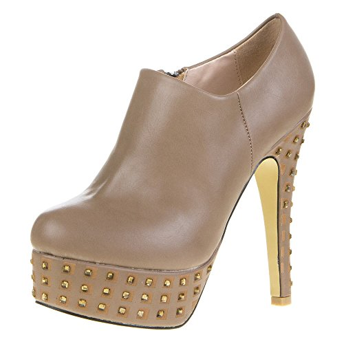 Ital-Design - Zapatillas altas Mujer Marrón - marrón claro