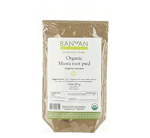 Banyan Botanicals Musta Powder - Certified Organic, 1/2 Pound - Cyperus rotundus - Supports regular, comfortable menstruation and promotes healthy digestion* by Banyan Botanicals