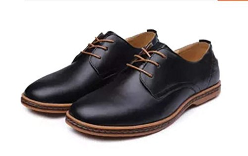48 Size Bebete5858 Men Men's Shoes Extra Especially Large 49 50 Black Casual Leather rqI0ItRpfn