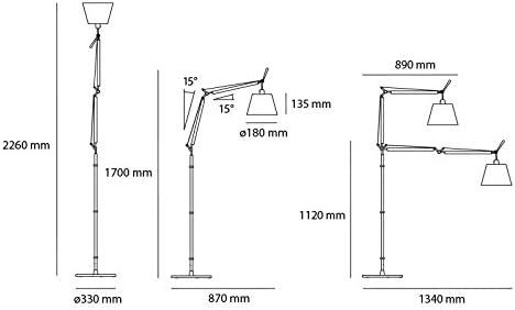 Artemide – Lámpara de pie Artemide Tolomeo Basculante Halo ...